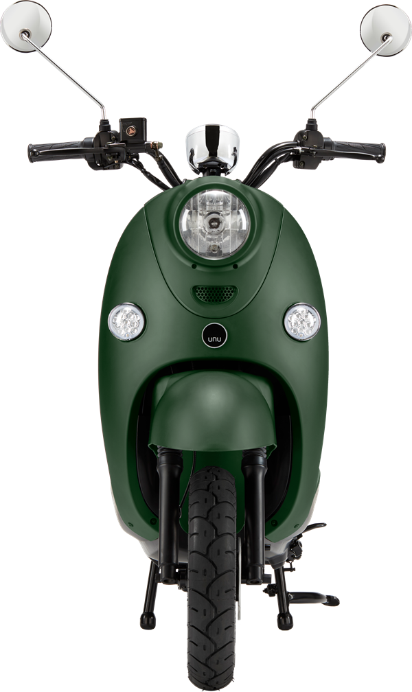 unu scooter front green