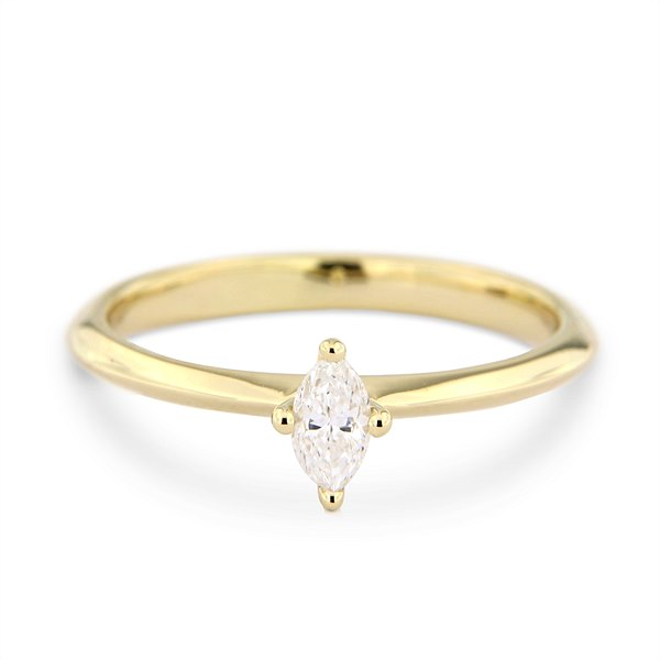 Katie g. Jewellery - Navette Diamond Solitaire Ring_EUR 3150