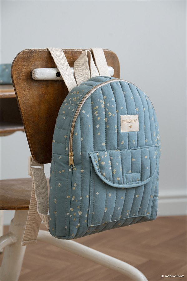 kyddo_Nobodinoz_Rucksack Gold Confetti Magic Blue EUR 39,95