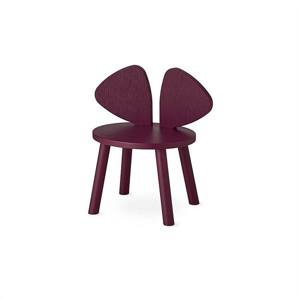 "kyddo_Nofred_Kinderstuhl ""Mouse Chair Burgundy"" EUR 175"