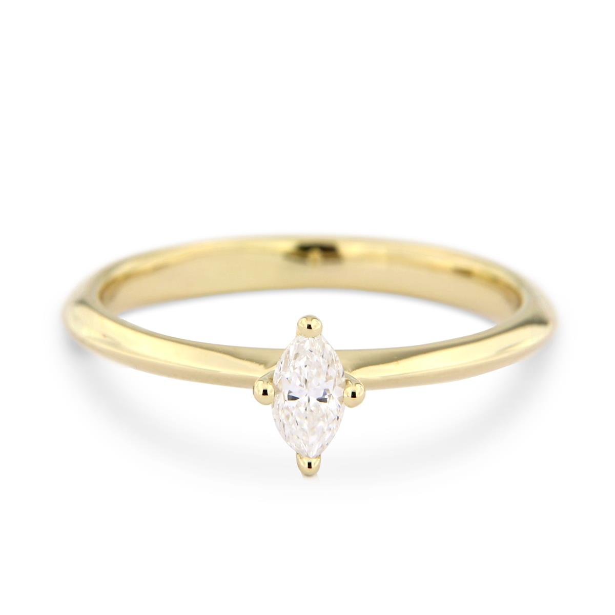 Katie g. Jewellery - Navette Diamond Solitaire Ring_EUR 3.150