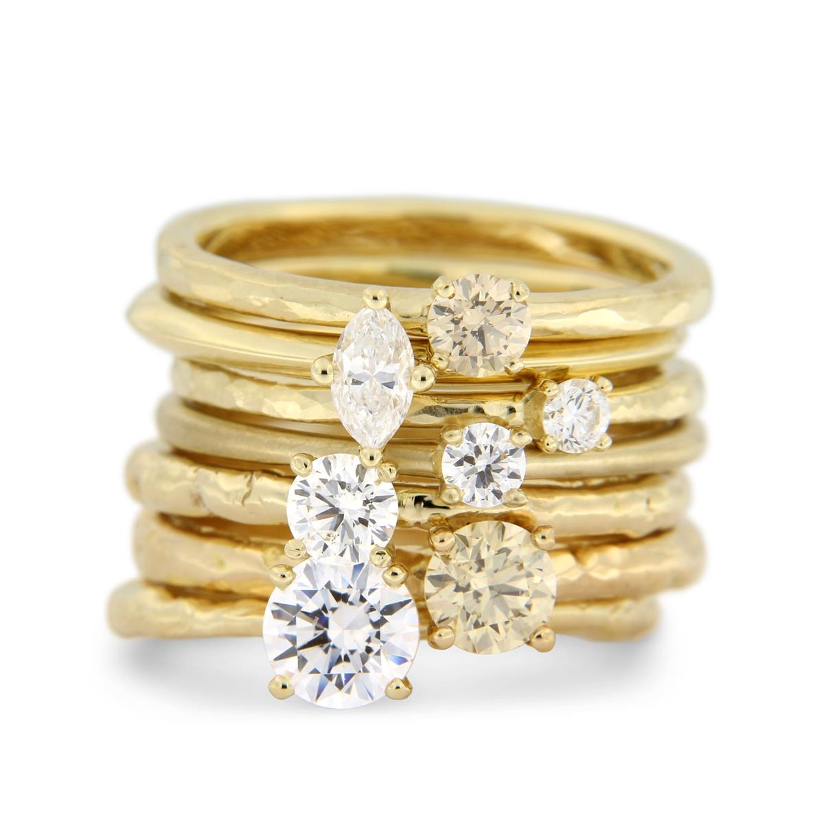 Katie g. Jewellery - Solitaire Ring Stack Gelbgold_ab EUR 1.100