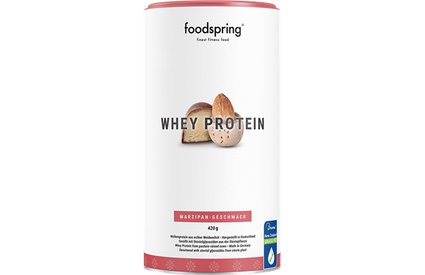 foodspring_Whey Protein_Marzipan Geschmack_EUR 19,99