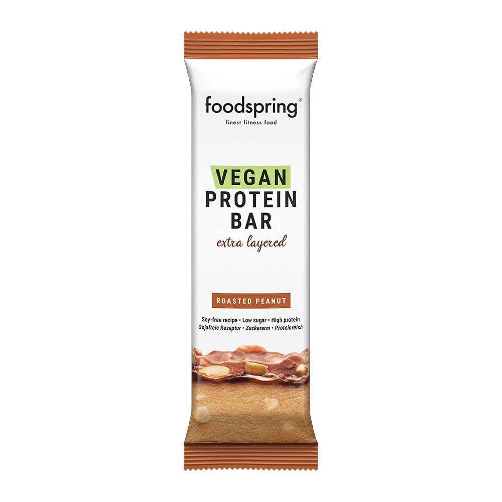 foodspring_Vegan Protein Bar Extra Layered_Roastet Peanut_je EUR 2,49